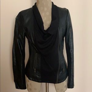 Olive & Oak faux leather jacket with defect xs